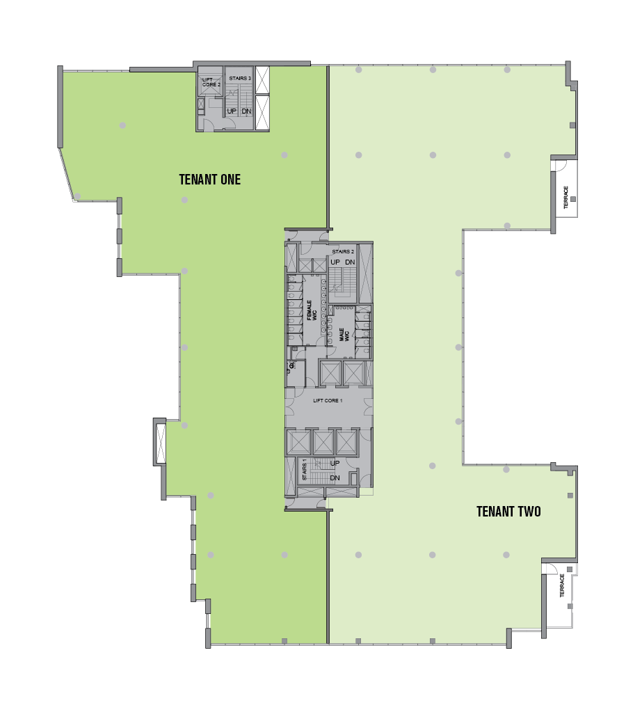 Two Tenants per Floor Option 2