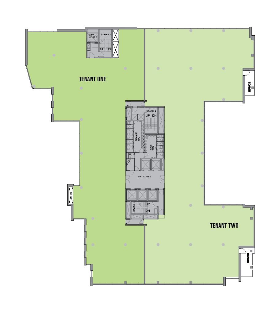 Two Tenants per Floor Option 2