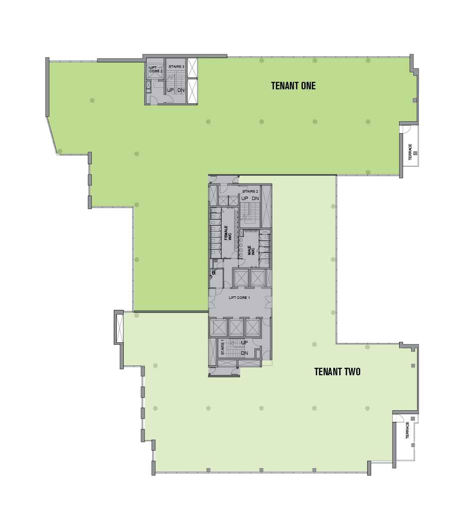 Two Tenants per Floor Option 1